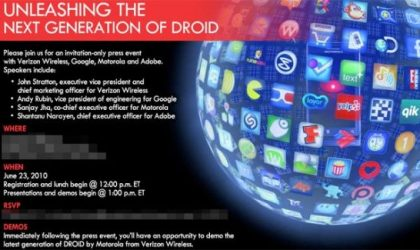 'Next Generation Of Droid' set to Unleash on June 23