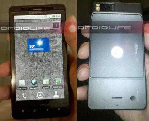 DroidX Front and Back view