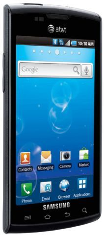 Samsung Captivate (modified Galaxy S) announced by AT&T