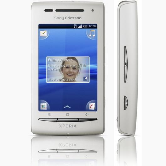 Sony Ericsson X8 Front view