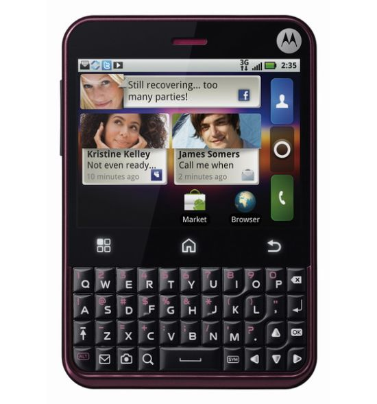 Motorola Charm Cabernet Color Official
