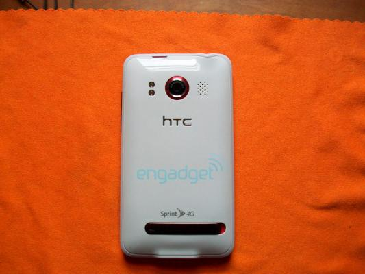 White HTC EVO on Best Buy available