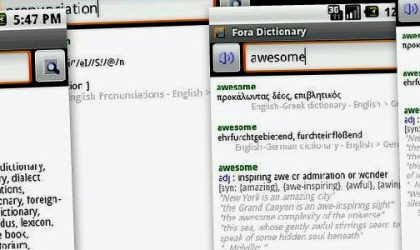 Fora Dictionary Android App for all Your Meaning-ful Needs