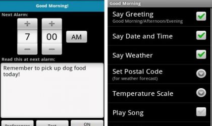 Good Morning: Alarm Clock Android App for Pleasant Mornings!