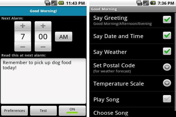 Good Morning android app