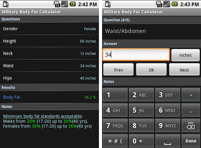 Get On Par With Us Army Standards Thanks To Military Body Fat Calculator Android
