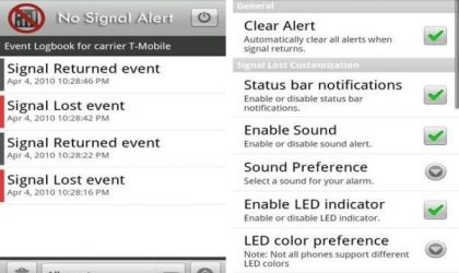 No Signal Alert – Notifies you of Dead Zones