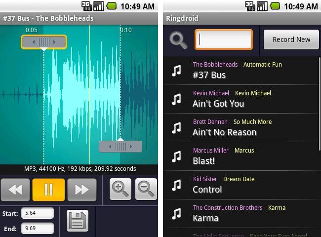Create Own Ringtones With Ringdroid S Easy To Use