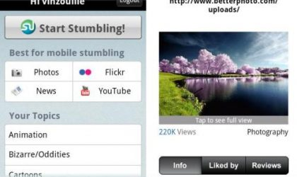 StumbleUpon Android App is Finally Here!