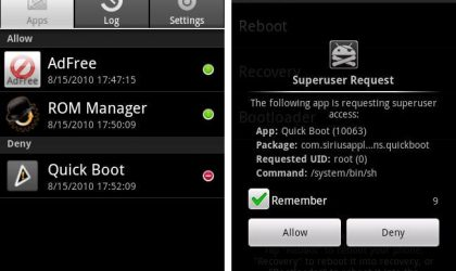 Superuser Android App Lets You Manage Superuser Permissions Given to Apps