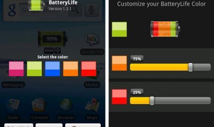 BatteryLife Android App: Now Customize Colors of Your Battery Widget Too!