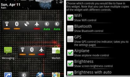 Dazzle Configurable Switcher: Best Widget to Switch On/Off Services on Android