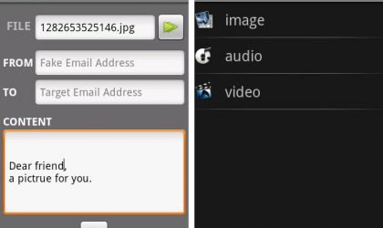 SuperEmail Android App: Send Mails with Fake Source Name and No File Size Limit for Attachments. Really!