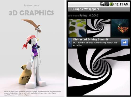 3d Graphics Wallpapers Android App Spice Up Your Android