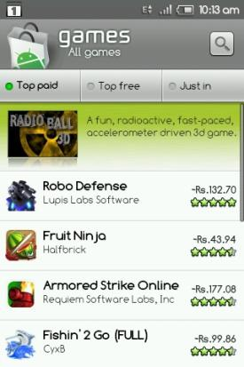 Paid Apps Appear in Local Currency (Rs) in India [Android Market]