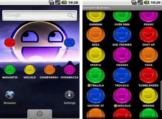 Android Instant Buttons