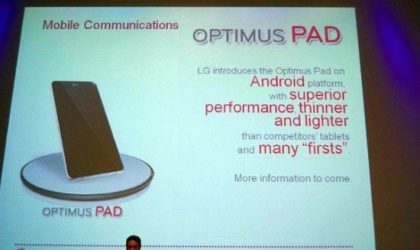Rumors Surface of 8.9 inch LG Optimus Pad, Slated for Launch in Early 2011 [Android Tablet]