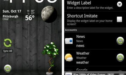 Synker beta – The Sync Widget Android App: For syncing all your registered accounts through widgets