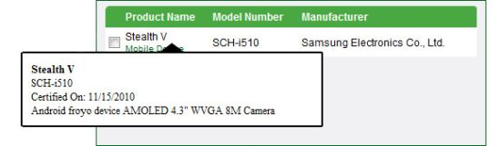 Samsung Stealth V Makes a Ghostly Appearance at DLNA Certification
