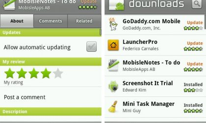 Android 2.1 getting market update, brings in auto update, update all and related apps tab