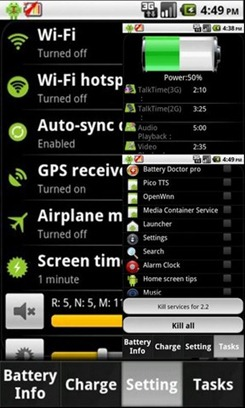 Android App to Increae Battery Life
