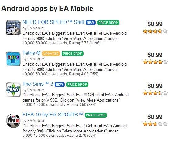 EA Mobile Games Sale $1