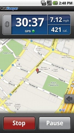 Fitness Android App RunKeeper Pro