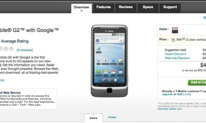 T-Mobile Selling HTC G2 for only $50 till Dec 20