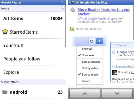 Google Reader Android App