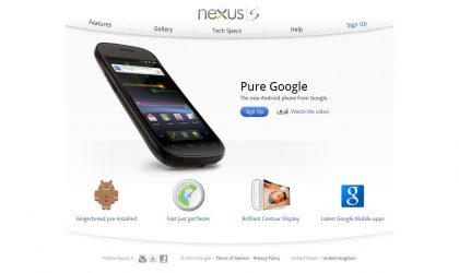 Google Nexus S Goes Live