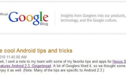 Wow! Google Gives You Some Tips and Tricks About Android (2.3!)