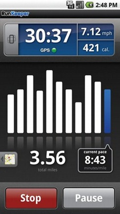 RunKeeper Pro Fitness Android App