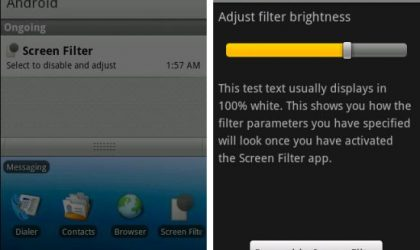 Screen Filter Android App: Best App to Decrease Brightness more than Phone's Default Settings. Works on Galaxy S too!