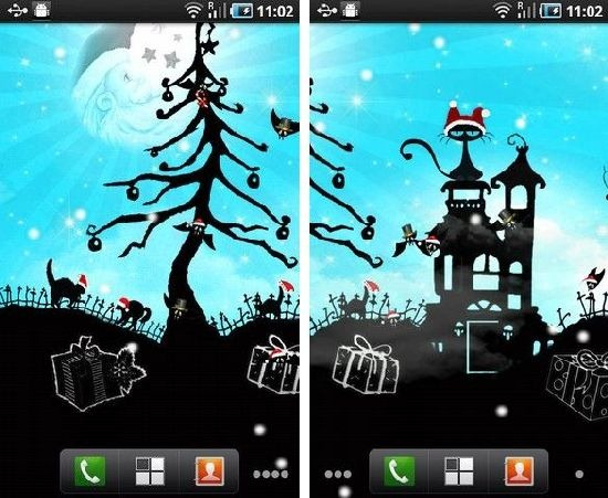 Xmas Glory Nite Live Wallpaper