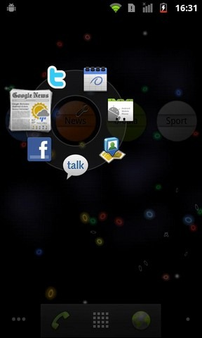 Android CircleLauncher Light