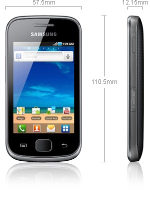 Samsung Galaxy Gio Specifications