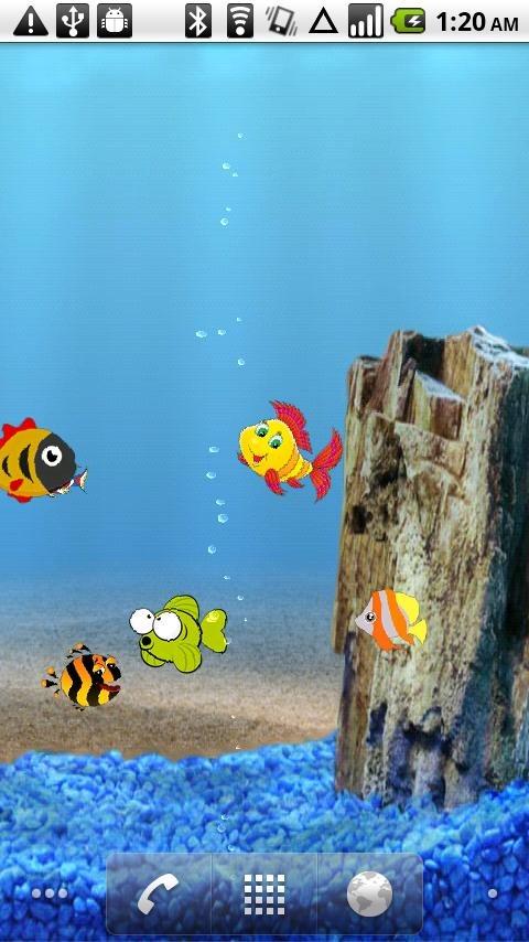 Cartoon Aquarium LiveWallpaper