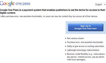 One Pass by Google Launched!