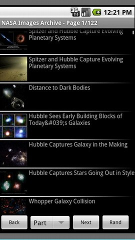 NASA Images Archive Android App