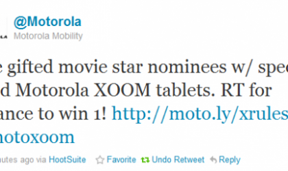 A Chance To Win The Amazing Gold Motorola XOOM Tablets