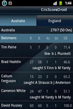 CricScoredroid - Live Cricket 3