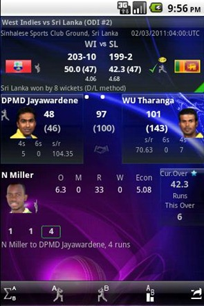 World Cup cricket live score 2