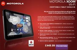 Xoom UK Wi-Fi only
