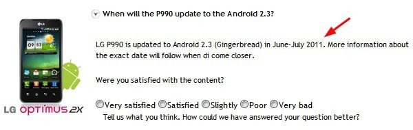 Android 2.3 Gingerbread Optimus 2X