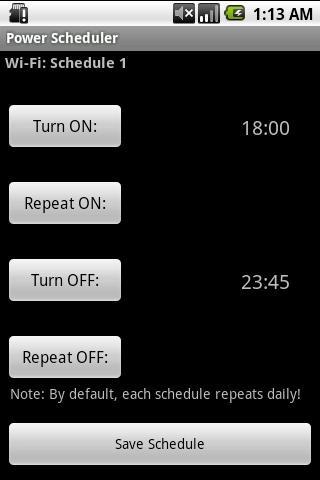Power Scheduler 2