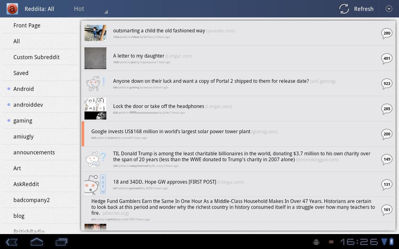 Reddita Android App