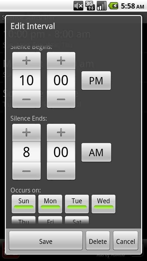 Silence Scheduler 1
