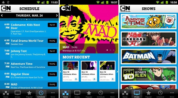 Android App Cartoon network Video