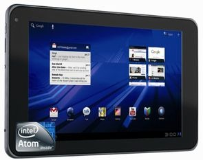 Intel Android Honeycomb Tablet