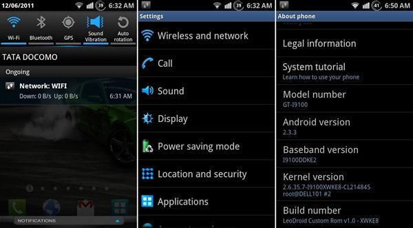 LeoDroid Galaxy S 2
